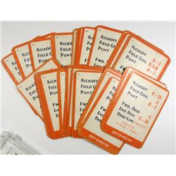 32 different  football game cards from the RARE 1925 YA-LO Football gane avg