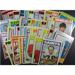 94  1972 Topps football cards NMNT  Many STARS and LEADERS  ALL DIFFERENT