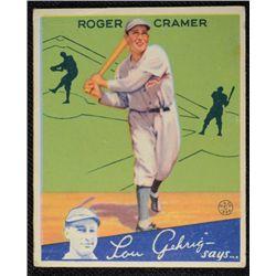 1934 Goudey baseball card #25  CRAMER   VG+   Book value $120