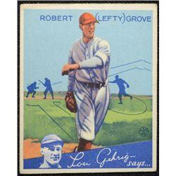 "1934 Goudey baseball card #19  ""LEFTY"" GROVE  VG+ paper wrinkle Book value $675"