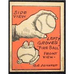 Schutter-Johnson Candy Co. Major League Secrets baseball card #49  LEFTY GROVE's