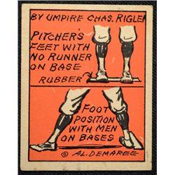 Schutter-Johnson Candy Co. Major League Secrets baseball card #9  UMPIRE RIGLER
