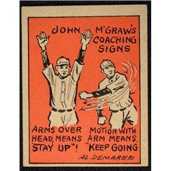 Schutter-Johnson Candy Co. Major League Secrets baseball card #41  JOHN McGRAWS