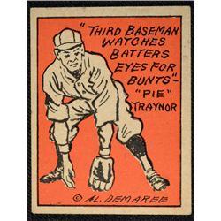 Schutter-Johnson Candy Co. Major League Secrets baseball card #23  PIE TRAYNOR's