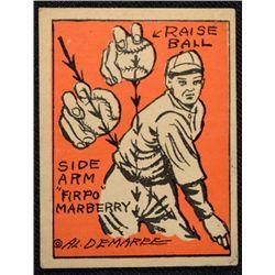 Schutter-Johnson Candy Co. Major League Secrets baseball card #47  MARBERRY's