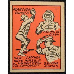 Schutter-Johnson Candy Co. Major League Secrets baseball card #24  MANCUSCO's