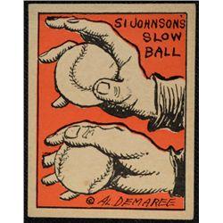 Schutter-Johnson Candy Co. Major League Secrets baseball card #34  SI JOHNSON's