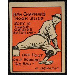 Schutter-Johnson Candy Co. Major League Secrets baseball card #40  CHAPMAN's
