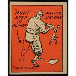 Schutter-Johnson Candy Co. Major League Secrets baseball card #12  DON'T STEP