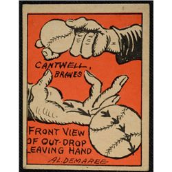 Schutter-Johnson Candy Co. Major League Secrets baseball card #25  CANTWELL's