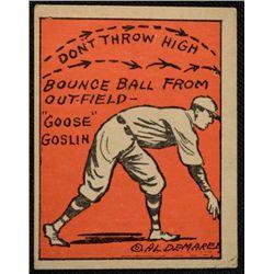 Schutter-Johnson Candy Co. Major League Secrets baseball card #27  GOOSE GOSLIN