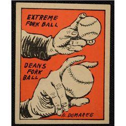Schutter-Johnson Candy Co. Major League Secrets baseball card #35  THE FORK BALL