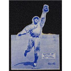 34/36 BATTERS UP baseball card #42 GEHRINGER  no top  BOOK VALUE $300