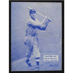 34/36 BATTERS UP baseball card #58   KNICKERBOCKER  EX BOOK VALUE $95