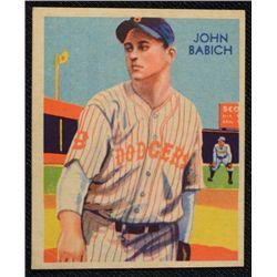 34/36 Diamond Stars baseball card #82   BABICH   VG/EX+   BOOK VALUE $100