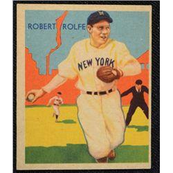 34/36 Diamond Stars baseball card #29   ROLFE/YANKEES   EX   BOOK VALUE $100