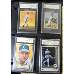 5-GRADED CARDS 33 GOUDEY,50 BOWMAN, 52 TOPPS, 89 UD, 61 FLEER