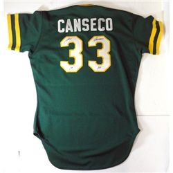JOSE CANSECO ROOKIE JERSEY AUTOGRAPHED