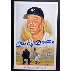 MICKEY MANTLE AUTOGRAPHED PEREZ STEELE POSTCARD