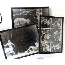 3-ORIGINAL BOXING BLACK & WHITE PHOTOS