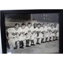 8X10 BROOKLYN DODGERS PHOTO, J.ROBINSON, CAMPY, SNIDER PLUS MORE