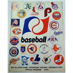 1970 ALL STAR GAME PROGRAM RIVER FRONT STADIUM CINCINNATI