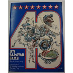 1973 ALL-STAR GAME PROGRAM ROYALS STADIUM KANSAS CITY
