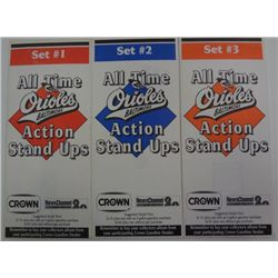 ALL 3 SETS 1976 CROWN ALL TIME ORIOLES ACTION STAND UPS