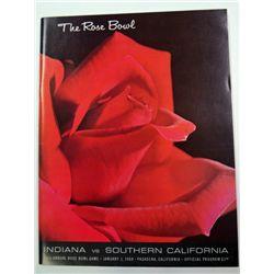 1968 ROSE BOWL PROGRAM INDIAN vs SOUTHERN CALIFORNIA