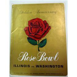 1964 ROSE BOWL PROGRAM ILLINOIS vs WASHINGTON