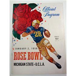 1956 ROSE BOWL PROGRAM MICHIGAN STATE vs U.C.L.A.