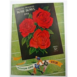 1954 ROSE BOWL PROGRAM MICHIGAN STATE vs U.C.L.A.