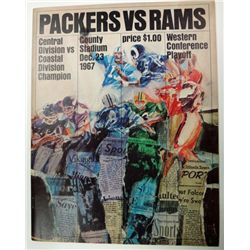 1967 WESTERN CONFERENCE PLAYOFF PROGRAM PACKER vs RAMS