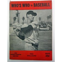 1943 WHO's WHO IN BASEBALL BOOK
