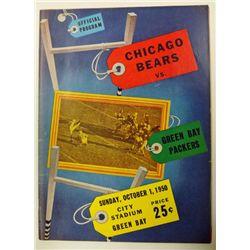 BEARS / PACKERS PROGRAM OCT 1, 1950
