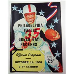 EAGLES / PACKERS PROGRAM OCT 14, 1951