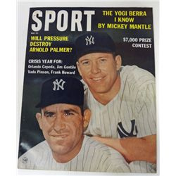 SPORT MAGAZINE MAY 1963 MANTLE / BERRA COVER