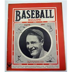 BASEBALL MAGAZINE APRIL, 1935, LOU GEHRIG ON COVER