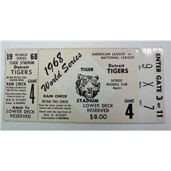 1968 WORLD SERIES DETROIT TIGERS TICKET STUB