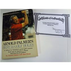 """ARNOLD PALMER AUTOGRAPHED BOOK """"BEST 54 GOLF HOLES"""""""