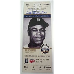 WILLIE HORTON AUTOGRAPH PLACK BY THAT'S MY TICKET LLC