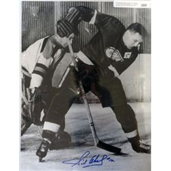 DETROIT RED WINGS SID ABEL AUTOGRAPH  11 X 14 PHOTO