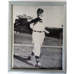 LATE 1950'S B&W PHOTO ROGER MARIS WITH INDIANS UNIFORM