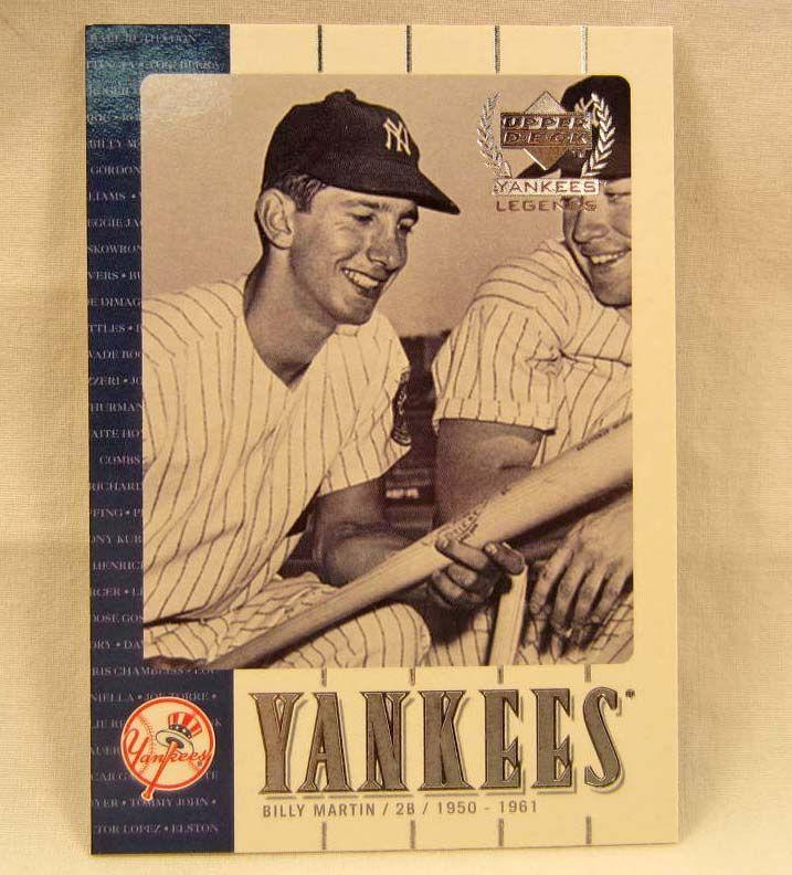 2621 2000 Upper Deck Billy Martin Yankees Legends Baseball Card