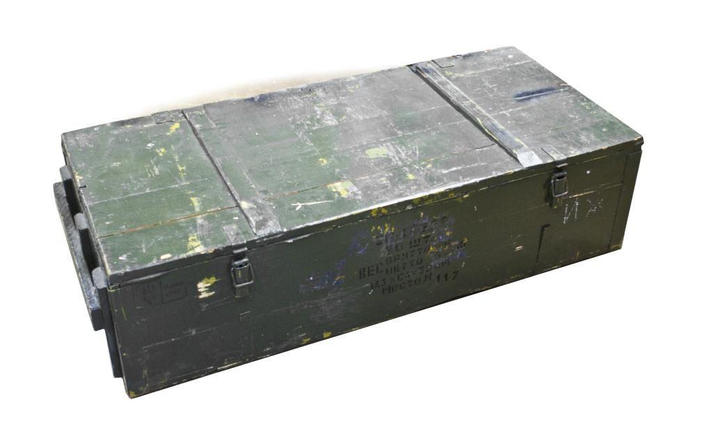 Green Wooden 20 Rifle Gun Shipping Crate