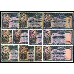 Hong Kong & Shanghai Banking Corporation, 1930 - 1959 Issue Banknote Assortment..