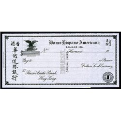 Russo-Asiatic Bank & Banco Hispano-Americano, Cuba Waterlow Specimen Draft.