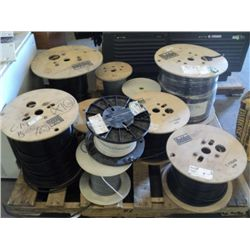 Pallet of Spools of Wire