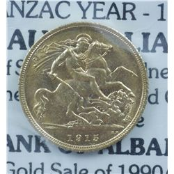 Australia ½ Sovereign 1915S