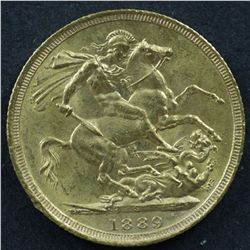 Australian Sovereign 1889S Uncirculated